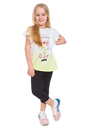 MITAAMI Mädchen Capri-Baumwoll-Leggings, 3/4-Länge, ultraweich, für Schulkleidung, Alter 2-13 Jahre Gr. 152, Schwarz -