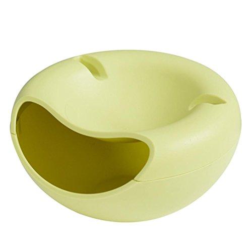 HKFV Form-Schüssel, die für Samen-Nüsse und trockene Frucht-Aufbewahrungsbehälter Kunststoffbehälter mit Handyhalter, für Snacks und Obst, kreatives Design, für bequeme Menschen (Grün) (Kleidung Kompression Großhandel)