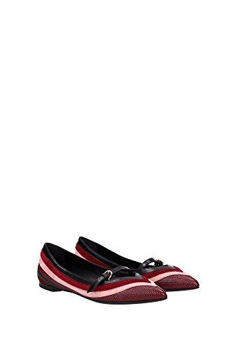 FARAIA0654178 Salvatore Ferragamo Ballerine Femme Cuir Rouge Rouge