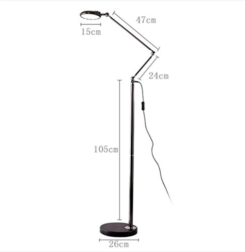 BZJBOY Lampada da terra LED di lettura Torchiere Lampada da
