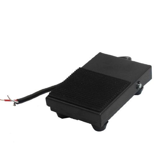 sourcingmap AC 250V 10A NO NC puissance momentanée antidérapant interrupteur pédale industrielle pour CNC