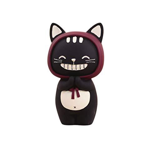 IMIKEYA Dibujos Animados Gato Hucha Banco de Monedas Gato Negro ahorrador decoración de Banco de Dinero artesanía Encantadora Forma de Gato Caja de Dinero para niños Jugando