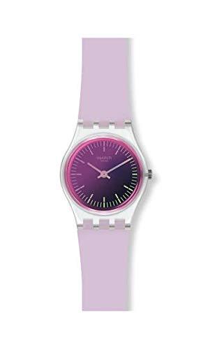 Swatch Damen Analog Quarz Uhr mit Silikon Armband LK390