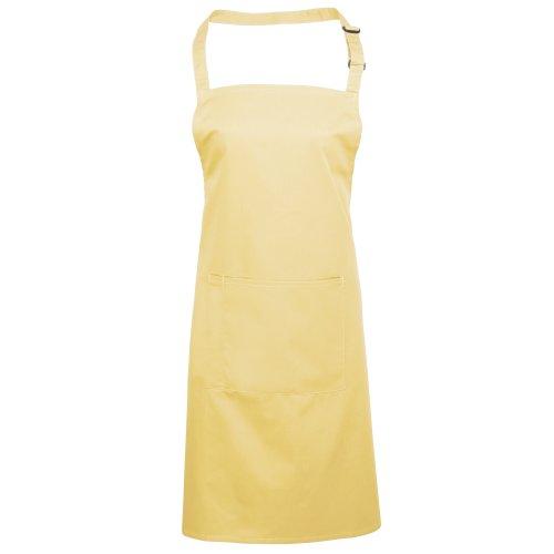Premier Workwear Colours Bib Apron with Pocket, Top Donna Limone