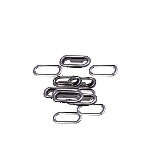 Trimming Shop Satz mit 100 - Oval Ösen Tülle mit Unterlegscheiben für Stoff, Leder, Handtaschen, Schnallen, Banner Machen, Basteln - Rotguss schwarz, 35mm -