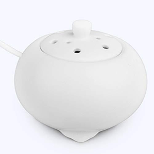 QQAA Aroma Diffuser, Einfache Keramik, Agarwood Aromatherapie ElektroöL Elektroheizung Aromatherapieofen, Weiß