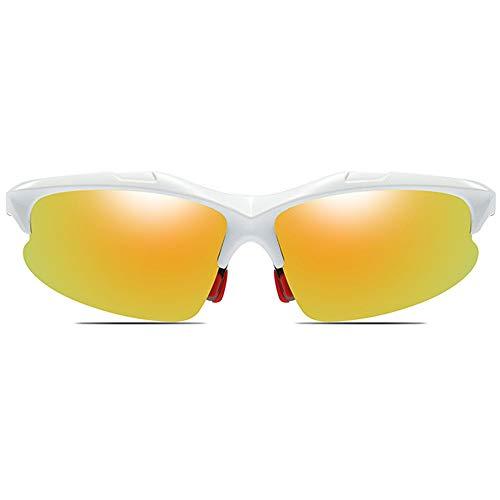 KJDFN Radfahren Sport Anti-Glare-PC-Material Sonnenbrille Blau/Weiß Männer Und Frauen Mit Der Gleichen Polarisierten Reitbrille Trend (Farbe : White)
