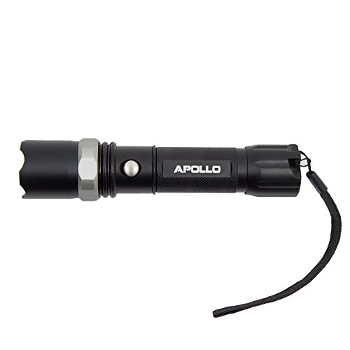 LED Taschenlampe SWAT CREE LED mit intergrierter Ladefunktion an der Steckdose und 3W Power LED und XXL Akku (180 Minuten Leuchtdauer) + KFZ Ladekabel , kein Batteriekaufen mehr -