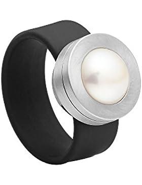 Heideman Ring Colori |Wandelbarer Damen-Ring | Damen-Schmuck mit Süßwasser Perlen | Elastischer Fingerring | Edelstahlschmuck...