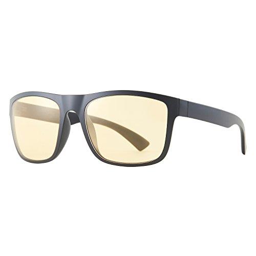 Zhara Anti Blaulicht Brille Gaming Computerbrille Blaufilterbrille Anti-Müdigkeit Herren für PC Handy und Fernseher - Schützen Sie Ihre Augen (Gelb03)