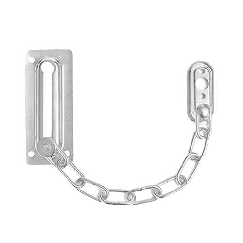 Xiaoyamyi - serratura di catena per porta in acciaio inossidabile modellato per chiusura di sicurezza, robusta per la decorazione della casa