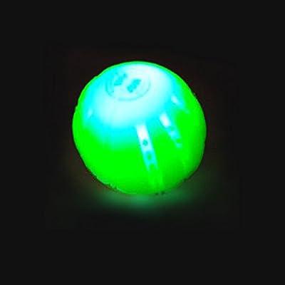LED Bolas para Perro, LaRooTM Bola del Perro de LED del Juguete del Perro de Silicio con USB Recargable Que Brilla en la Oscuridad la Pelotas para Perro Bola de Entrenamiento del Perro la Bola del Limpiador de los Dientes del Perro para El Juego del Perrro - 6.6CM (Amarillo, 1 Pieza)