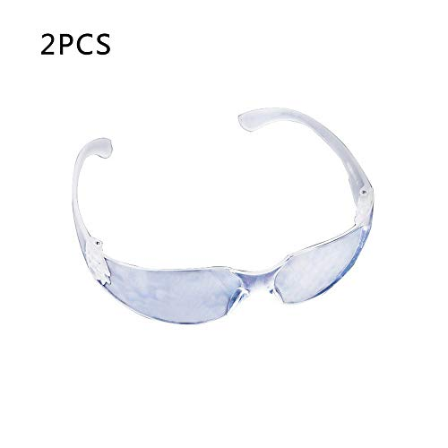Schutzbrille Kratzfest Lifemaison Klare Schutzbrillen Zum Schutz der Augen mit Klaren Kunststoff-Linsen Anti-Beschlag Kratzbeständig 2/5/10 Stück