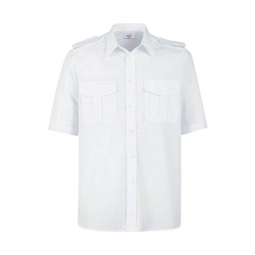 Greiff Classixx Herren Pilothemd 6603 kurzarm Weiß