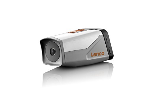 Lenco SPORTCAM-600 HD Sportkamera mit GPS (Full HD, 1080P, 3,8 cm (1,5 Zoll) Display, Weitwinkelobjektiv, Li-Polymer Akku)