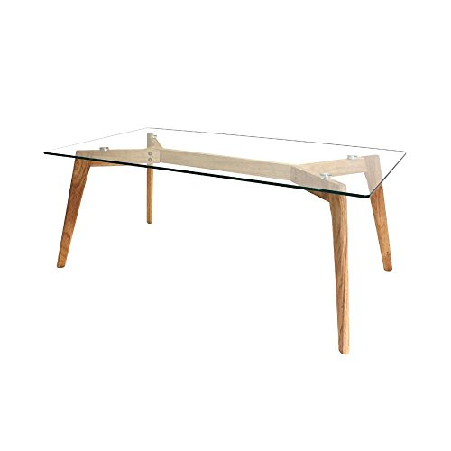 The concept factory Table rectangulaire en Verre