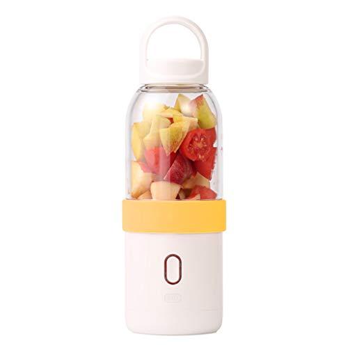 Calvinbi Haushalt 500ML 6-Blatt ragbarer Entsafter Mixer Fruchtsaftpresse Smoothie Maschine USD Wird aufgeladen Saftschale