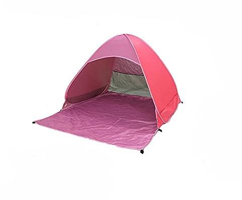Outdoor Camping Automatik Zelt, Pop Up Instant Portable Cabana Family Beach Zelt und Sun Shelter für 2oder 3Personen, rose