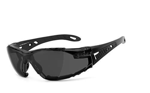 Helly® - No.1 Bikereyes® | H-FLEX®- unzerbrechlich, beschlagfrei, HLT® Kunststoff-Sicherheitsglas nach DIN EN 166 | Bikerbrille, Motorradbrille, Multifunktionsbrille | Brillengestell: schwarz ma.