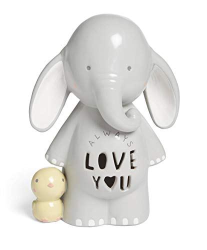 Mamas & Papas M&P - Lámpara de noche, diseño de elefante Ellery con texto'Always Love You'
