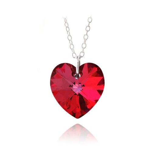 Red Heart Necklace Amazon Co Uk