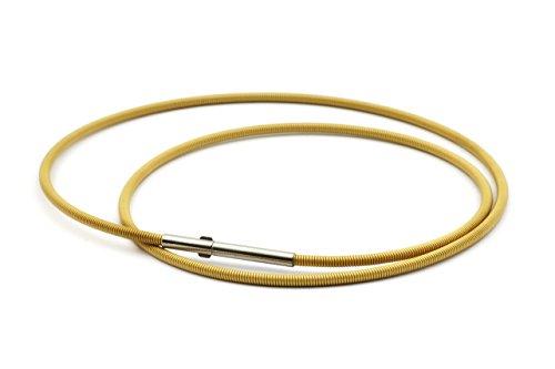 Heideman Halskette Damen Linea 1 aus Edelstahl Gold farbend matt Kette für Frauen mit Doppeclip Verschluss Collier für Charms und Schmuck Anhänger Länge 40cm (Goldene Halskette Verschluss)