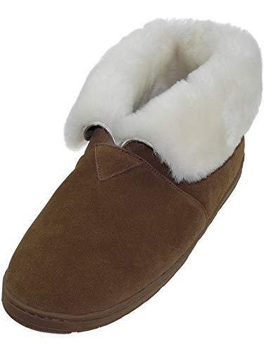 Harrys-Collection Damen Herren Boots aus feinstes Merino Lammfell in 2 Farben, Schuhgröße:44, Farben:Haselnuss -