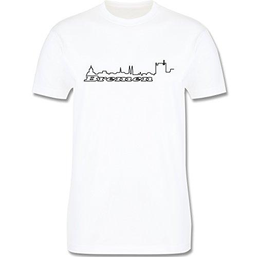 Skyline - Bremen Skyline - Herren Premium T-Shirt Weiß