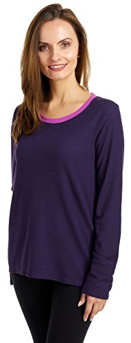 Jockey Damen Soft Thermal Long Sleeve Top  Pyjama-Oberteil (Top)  -  violett -  (Thermal Sleeve Damen Long Top)