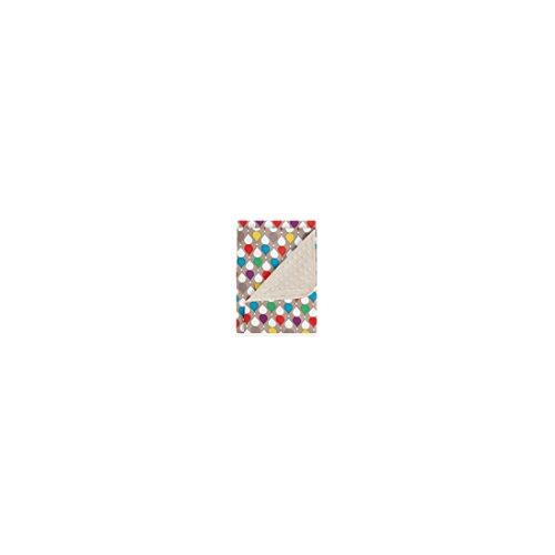 pirulos 64030900–Decke doppelseitig, 80x 110, Motiv Drops, Farbe Leinen