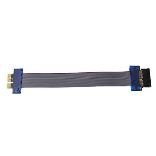 Non-brand 1 Stück Verlängerungskabel PCIe 1X Riser Karte Grafik Verlängerung Erweiterungsband PCI E Flex Kabel