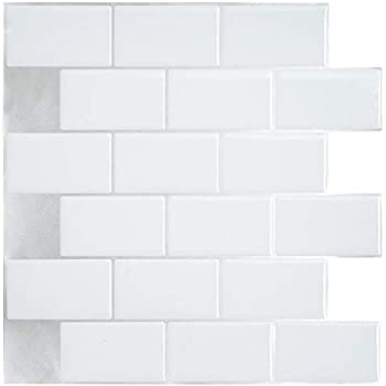 Peel And Stick Tile Backsplash For Kitchen Bath Self