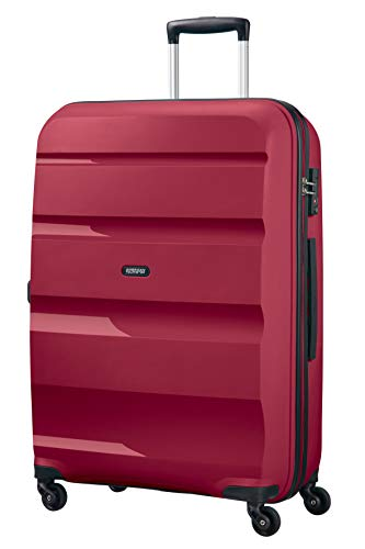 American Tourister Bon Air - Spinner Large Bagage Cabine, 75 cm, 91 liters, Rouge (Burgundy Purple)