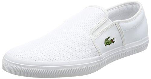 Lacoste gazon bl 1 cam, sneaker uomo, bianco (wht), 44 eu