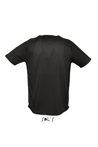 Sols - Maglietta sportiva - Collo a U  - Opaco -  uomo Nero