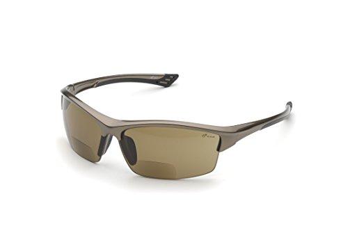 Elvex WELRX350BR15 RX-350BR - Gafas de seguridad con 1,5 dioptrías, lentes marrones