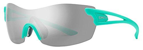 Smith Pivlock Asana/N Xb 1Ed, Gafas de Sol para Mujer, Verde (Green/SIL Grey Speckled CP), 99