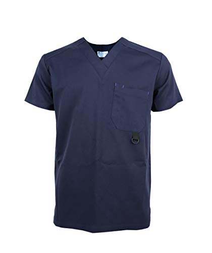 Jonathan Uniform - Camisa - Túnica - Liso - Cuello en V - Manga Corta - Hombre Azul Azul Marino Medium