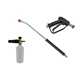 pwpuk Kompakte Schnellspanner-Waschpistole, 11,6 mm, 700 mm Lanze & Schneeschaum-Lanze, 3/8 Zoll F-Einlass