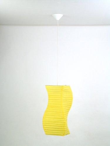 Pendelleuchte Hängeleuchte 'NAGANO' 1-flammig Papier gelb BRILLIANT 74170A02
