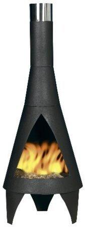(free cover) Medium Black Steel 125cm Colorado Chiminea Chimenea Patio Heater