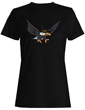 Nueva Bruja De Halloween Eagle_Art camiseta de las mujeres i317f