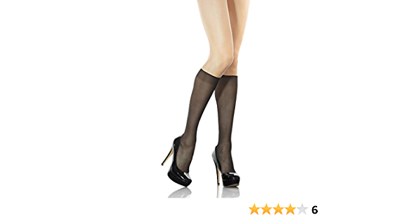 Women Sheer Hosiery Lycra Knee High Pop Socks Non-oppressive Band2 Pack