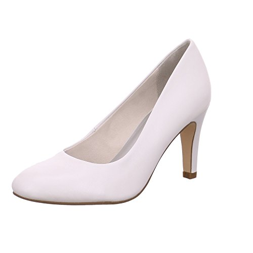 Tamaris 22451, Escarpins Femme Blanc (WHITE 100)