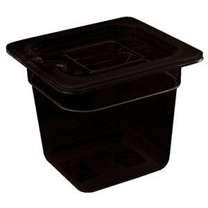 Polycarbonat Gastronorm Container - 1/6 ein Sechstel Größe Black. 150mm tief. 2,3 Liter.