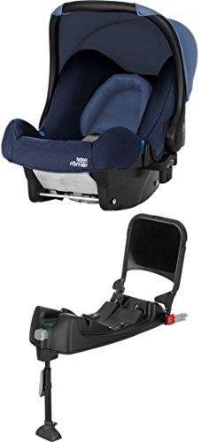 Britax Römer Baby-Safe Babyschale Set Gruppe 0+ (Geburt - 13 kg), Kollektion 2018, moonlight blue, inkl. Isofix-Station