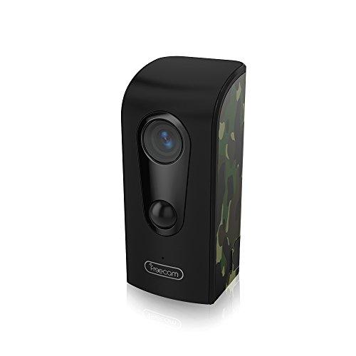 FREECAM Wasserdichte IP Kamera-Mini Wireless WiFi Kamera mit Überwachungssystem 3400mAh Akku mit Nachtsicht, Bewegungserkennung, für Smart Home Outdoor / Indoor (C380 Camouflage) - Batterie Betrieben-security-kamera