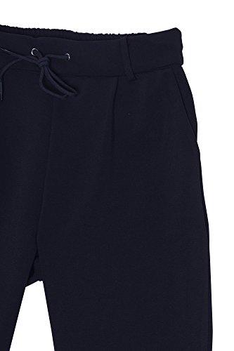 Damen elegante Hose mit Kordelzug Damenhose Stretch High Waist Damenhose mit hohem Bund Pants Schwarz