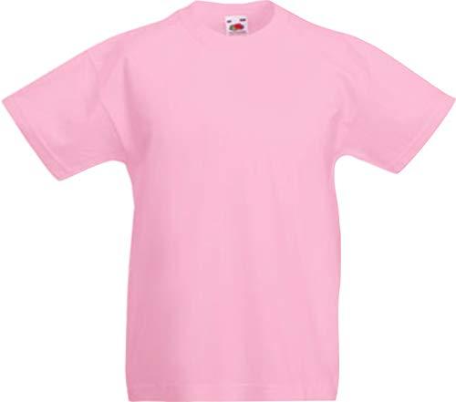 ShirtInStyle Kinder-Shirt Basic UNI Fruit of the Loom, Farbe Rosa, Größe 164