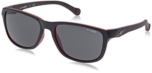 Arnette 0an4214 231287 58, occhiali da sole uomo, nero (matte black on opal red/grey)